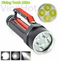 6000 Lumen Waterproof Falshlight Lanterna 4x XM-L 2 LED 100m Underwater Dive Lights Linternas Diving LED Flashlight Torch Lamp
