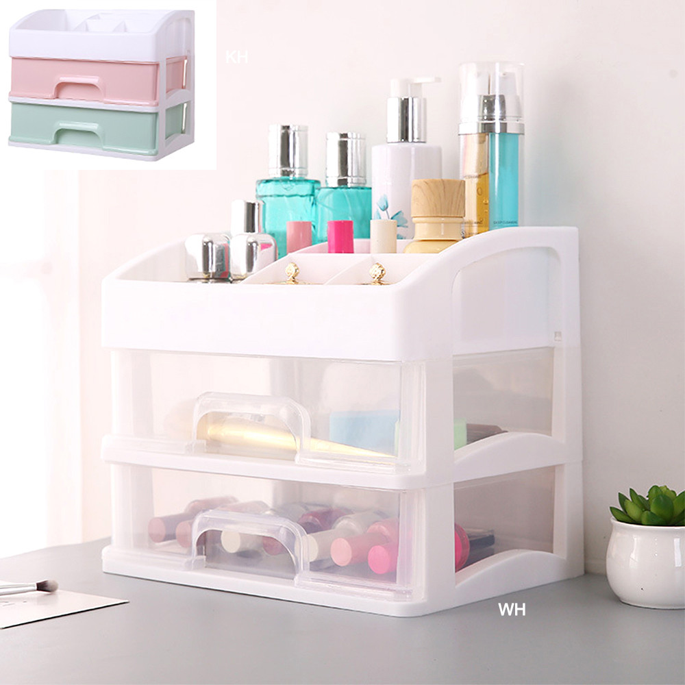sports shoes d16f0 95112 US $9.72 49% OFF|New Double Door Cosmetic Storage Box Dustproof Desktop  Lipstick Rack Plastic Acrylic Dressing Table Skin Care Products  Organizer-in ...