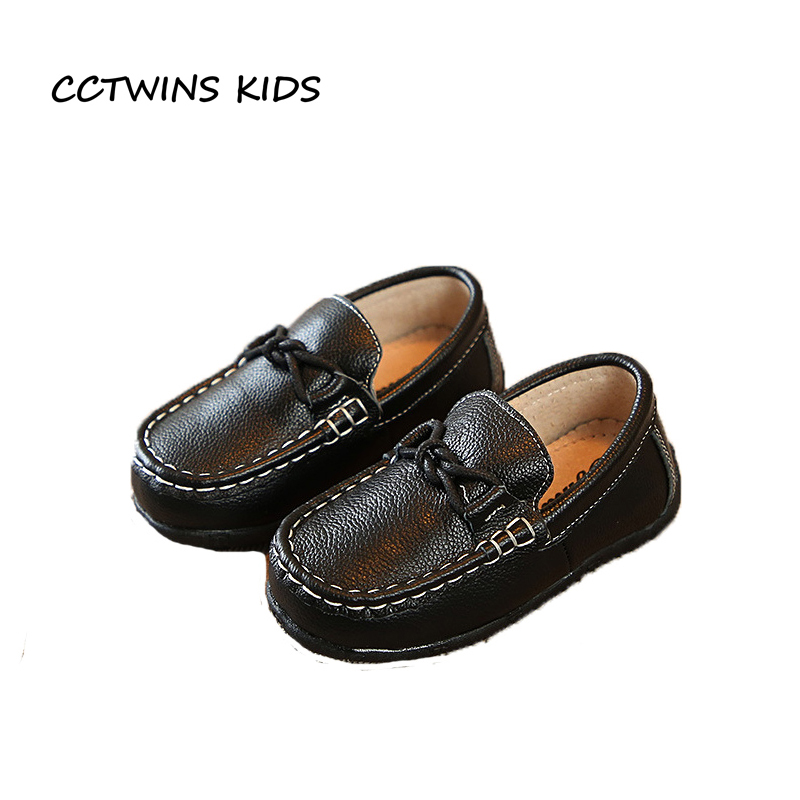 CCTWINS KIDS 2018 Spring Boy Fashion Genuine Leather Loafer Baby Girl Brand Slip On Shoe Children Black Flat Toddler G1934