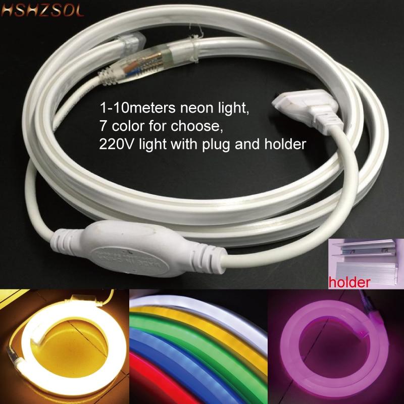 1-10 м наружный и внутренний светодиодный светильник ing гибкий светодиодный неоновый светильник SMD 2835 120LED s/m светодиодная неоновая полоса све...