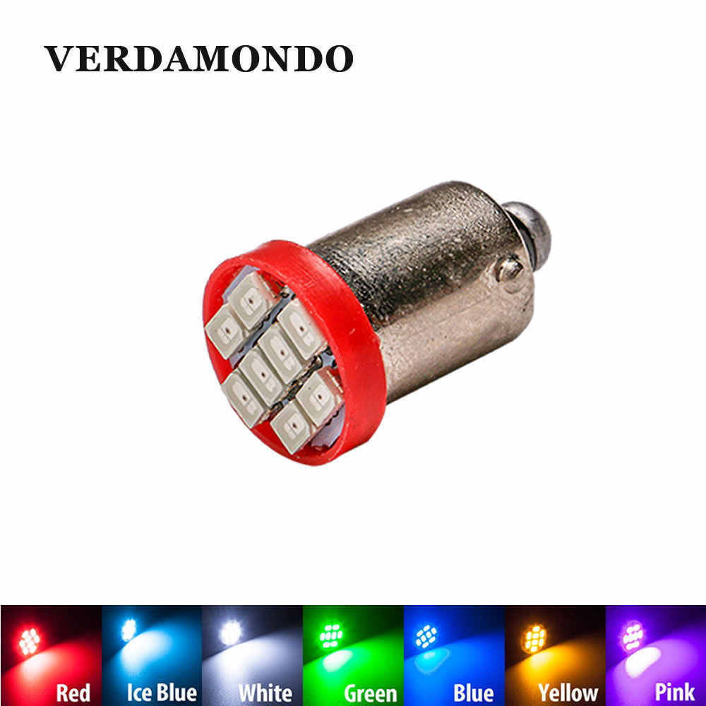 1 Pcs High Quality T4W BA9S 8 SMD 1206 LED Interior Light 3020 8smd Wedge Auto Reading Dome Lamps Car Marker Light 12V 7 Colors