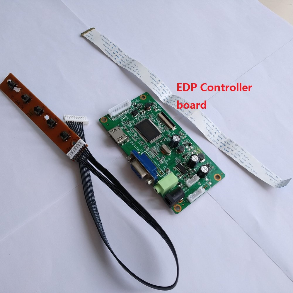 HDMI+VGA LCD EDP Controller Driver Board Kit for Panel LP156WH3-TPS1 1366X768