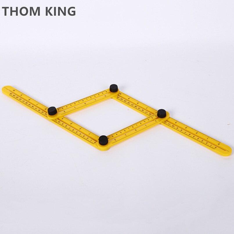 Professional Modèle Outil Angle Measuring Rapporteur Multi-Angle ruler