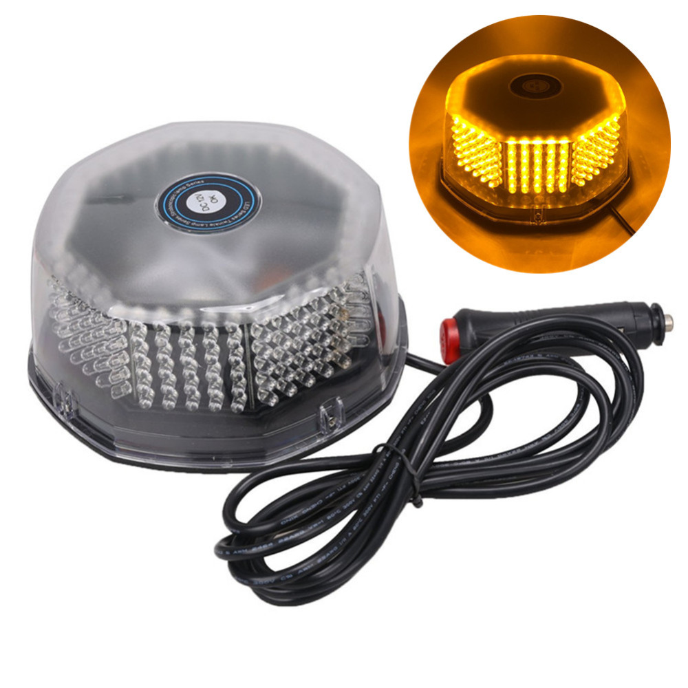 DC12V 240 LED Car Waterproof Vehicle Magnetic Mounted Flashing Strobe Emergency Light Beacon Lamp Police Warning Lighting