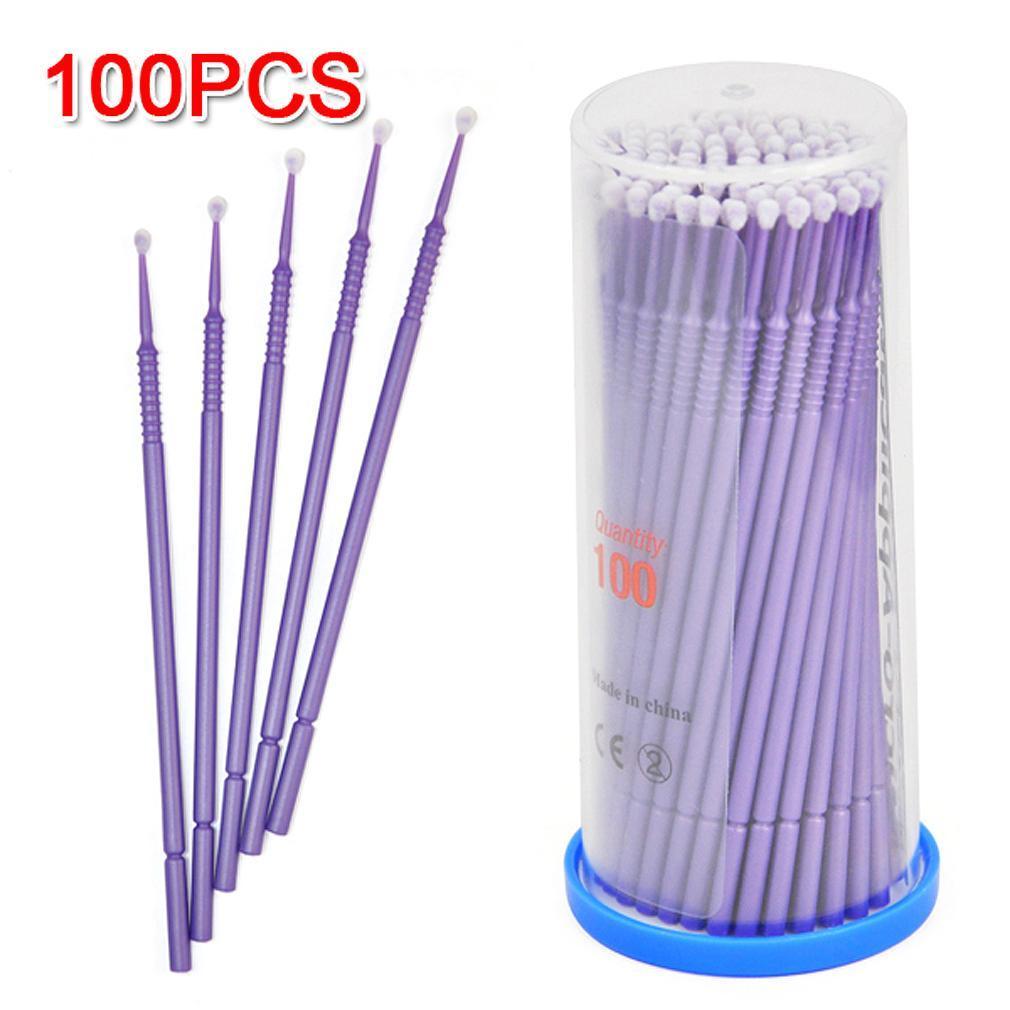 100 x Easy Disposable Eyelash Brush Mascara Wands Lash Extension Applicator UK send randomly