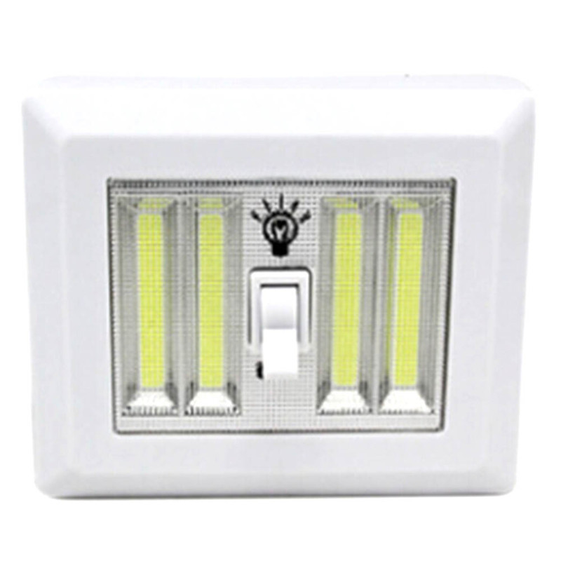 Mini LED Cordless Lamp Switch Wall Night Lights Home Use Bedroom Wardrobe Garage Closet Light Emergency Repair