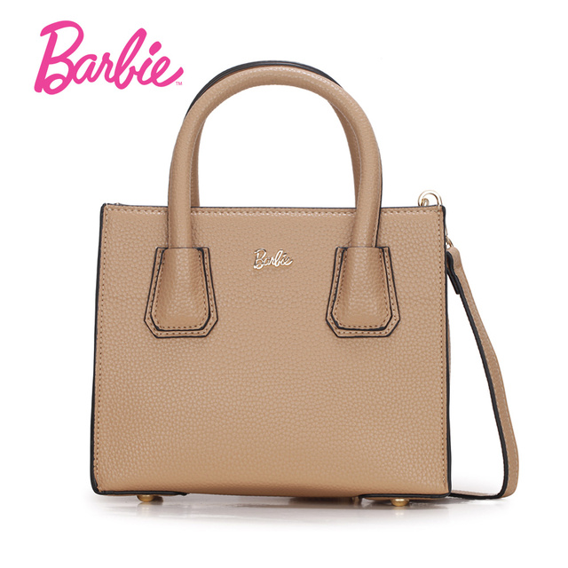 Barbie Women S Handbags Khaki Black Square Simple Style Totes Las Fashionable Bags Cross Body Bag Hot