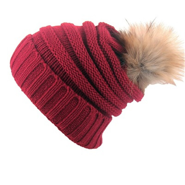 0c06f61e905 2019 Korean Women Winter Lady Warm hat With elastic high quality Cotton Big  ball thickened wool