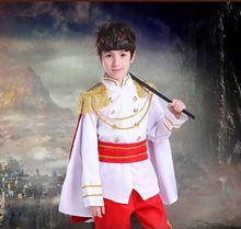Fantasia para meninos, traje de cosplay de príncipe king para meninos e meninas, presente de aniversário para crianças 2-12t