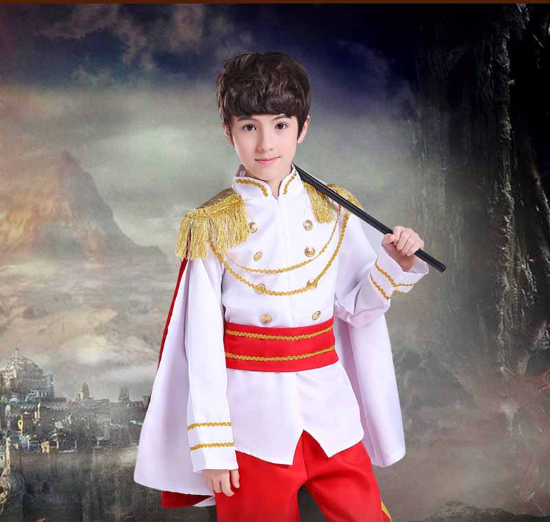 Fantasia Child Boy Kids Prince King Cosplay Fancy Dress Boys Carnival Cosplay Costume Birthday Gift For Kids Boys Child 2-12T