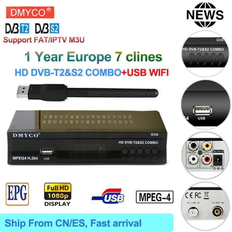 DVB-T2 dvb S2 Satellite TV Receiver receptor Combo H.264 MPEG-2/4 TV Tuner satellite receiver 1 Year Europe cline iptv m3u freesat v8 angel receptor satellite receiver android 4 4 smart tv box with 1 year cccam free cline for support iptv dvb s2 t2 c