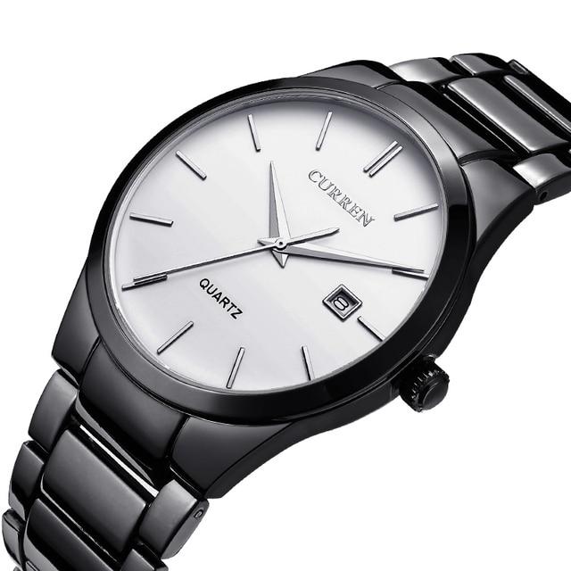 Curren Top Brand Business Men Male Luxury  Watch Casual Full steel Calendar  Wristwatches quartz watches relogio masculino
