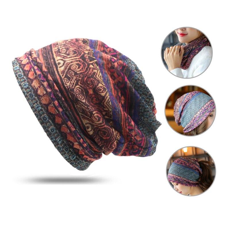 1 unids 2 Uso Cap bufanda de punto otoño sombreros de invierno para ...