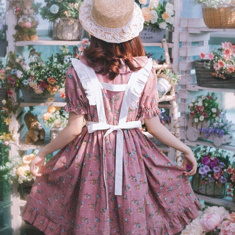Flor Princesa Algodón Fragmentado Dulce Moda Lg048 Las Amor De Lolita Rosado Vestido Mujeres Original Vintage La Primer FqRnxwq8rW