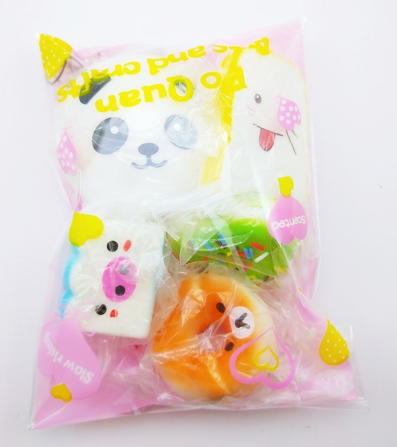 Mobile Phone Straps 5 Pcs/lot Toys Squishy Cat Bread Cake Donut Keychain Kawaii Squishies Ice Cream Squishy Slow Rising Antistress Squishe Food Cellphones & Telecommunications