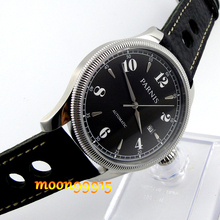42mm Parnis black dial Sapphire Glass miyota Automatic mens Watch