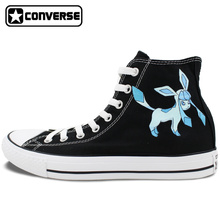 Pokemon Go Shoes Girls Boys Converse All Star Men Women Glaceon Hand Painted High Top All Star Canvas Sneaker Unique Gifts