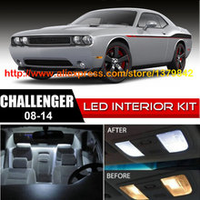 Free Shipping 10pc LED Lights car-styling Hi-Q Interior Package Kit For 08-14 Dodge Challenger oracle lighting do ch0912 rgb dodge challenger colorshift led halo headlight kit projectorhl