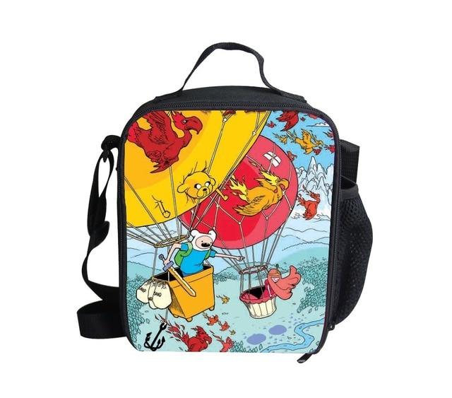 Рождественские подарки мультфильм приключения во времени с финном и джейк обед сумки, прохладный дизайн 3D отпечатано дети тепловой ланчбокс мальчиков сумки