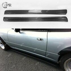 Dla Mazda MX5 NA Roadster FD Style Carbon boczna dokładka rozszerzenia Tuning części wykończenia dla MX5 NA z włókna węglowego boczna dokładka rozszerzenia