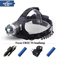 High quality Fixed focus Rechargeable Headlights CREE XML T6 Head Lamp LED Headlamp LED Headlight Flashlight Lantern 18650