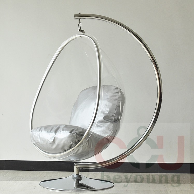 Awesome Metal Stents Transparent Acrylic Ball Oval Bubble Chair Bubble Chair  Hanging Chair Swing Balcony Garden In Patio Swings From Furniture On  Aliexpress.com ...