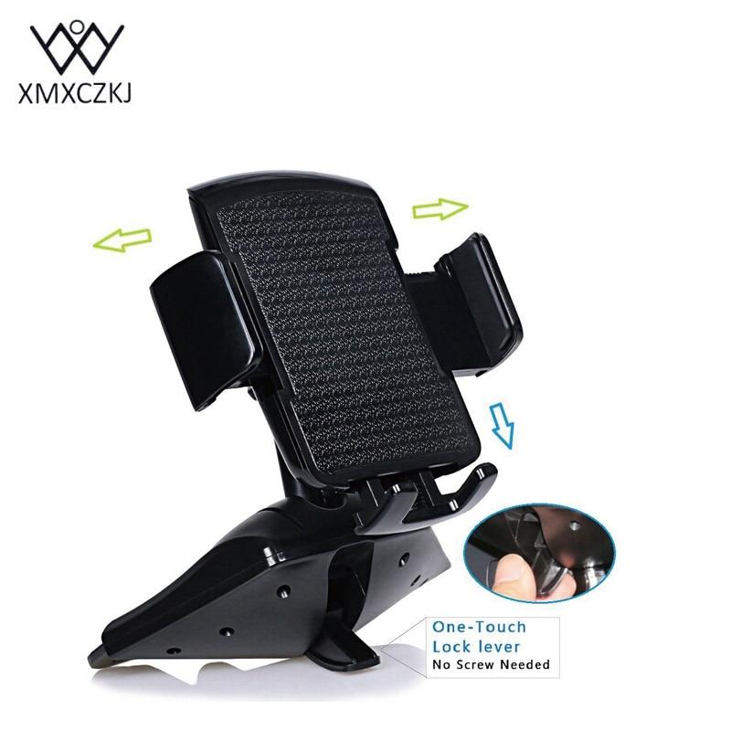 XMXCZKJ Universal 360 Degrees Car Cd Slot Holder ABS Mount Phone - Բջջային հեռախոսի պարագաներ և պահեստամասեր - Լուսանկար 5