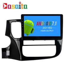 Dasaita 10.2″ Android 7.1 Car GPS Player Navi for Mitsubishi Outlander 2014-2017 with 2G+16G Quad Core No DVD Radio Multimedia