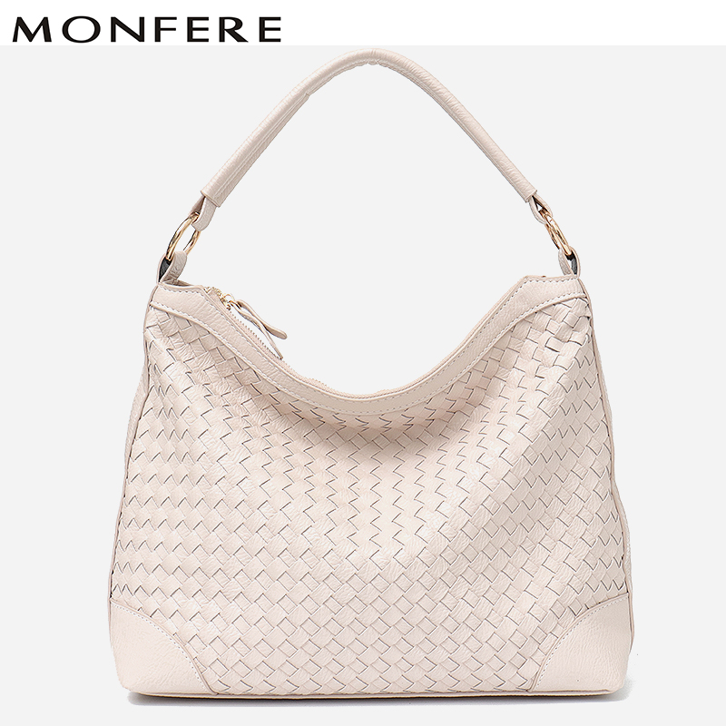 4f0ca113a5ef MONFERE Brand Vegan Leather Hobo Bag Luxury Handmade Grace Woven Handbags  Women Bags Designer High Quality Ladies Cross Body Bag-in Shoulder Bags  from ...