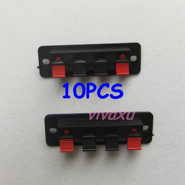 10 Pcs 4 pin Red and Black Spring Push Type Speaker Cable wire ... Speaker Wire Plug Types on square speaker plugs, banana plugs, hardware plugs, samsung surround speaker plugs, audio plugs, speaker wires from wall, speaker pin plugs,
