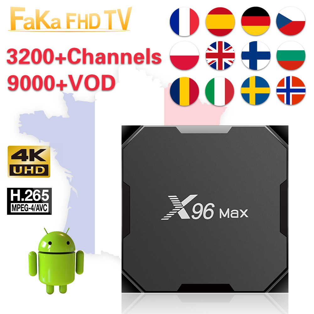 IPTV Italy France X96 Max 1 month Free IP TV Turkey Ex Yu IPTV Subscription 4K Box French Full HD IPTV Canada Portugal Poland UK-in Set-top Boxes from Consumer Electronics