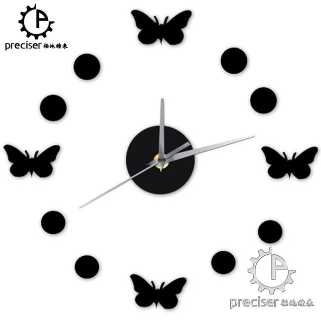 butterfly dots home decor wall clock vintage diy kitchen wall clock modern decorative