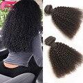 7А Бразильский Kinky Вьющиеся Волосы Девственницы Афро Вьющиеся Переплетения Человеческих Волос 4 Шт. Бразильские Странный Вьющиеся Волосы Афро Кудрявый Вьющиеся волос