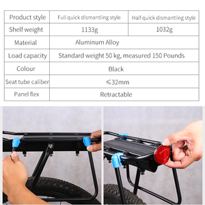Image 5 - WEST BIKING MTB Bike Luggage Carrier Aluminum Bicycle Cargo Racks for 20 29 inch Shelf Cycling Seatpost Bag Holder Stand Rack