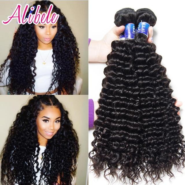 Ali Bele Virgin Hair Malaysian Curly Hair  Bundles Malaysian Deep Wave Curly Weave Human Hair