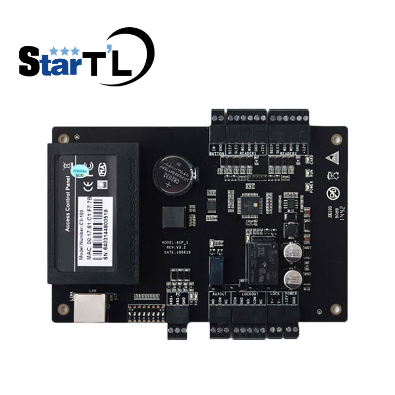 C3-100 Intelligent One-door Two-Way Access Control Panel aceess control system with TCP/IP Rs485 Card Access controller