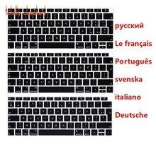 Для Macbook Air 13 13,3 A1932 2018 выпуск сенсорная клавиатура Обложка Французский Португальский Итальянский Немецкий Шведский русский язык