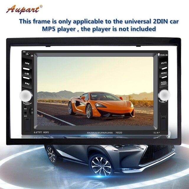 2 din cadre pour voiture lecteur multimédia double din accessoires auto pour 7 ''pouces autoradio 2din MP5 accessoire d'installation 103mm 2