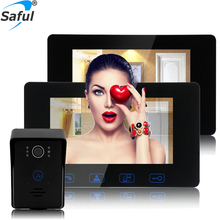 Saful Waterproof  Wired video door phone door intercom system hot sale Home Electric lock-control with Night vision