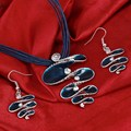 Conjunto de Joyería de moda Declaración de Múltiples Capas de Cuerda de Cadena de Cuero Collar Pendientes de la Joyería de la Fábrica Precio Al Por Mayor de la Joyería Del Verano