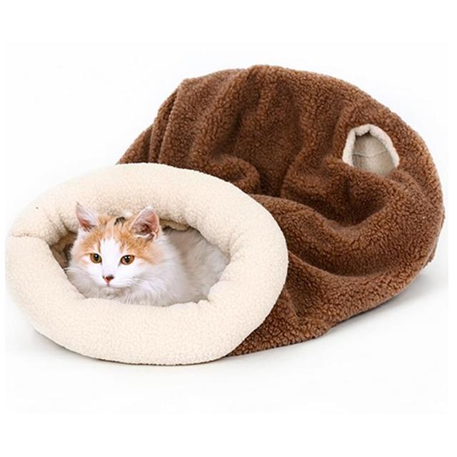 DoreenBeads 43x48cm Cats Sleeping Bag Pet Cat Beds Mats Pads Autumn / Winter Soft Warm Fleece Bed for Cat Puppy Small Dog Sleep