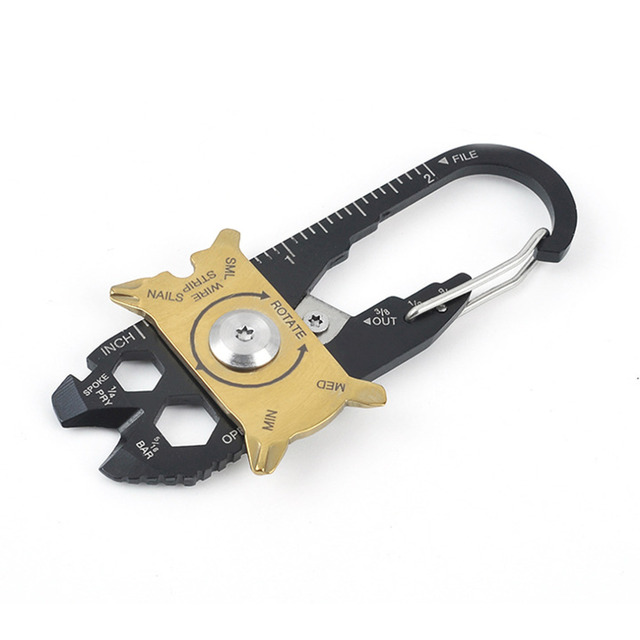 Useful 20 In 1 Multifunctional Stainless Steel Keychain Screwdriver Wrench Outdoor Survival Keychain Tools Hot Sale
