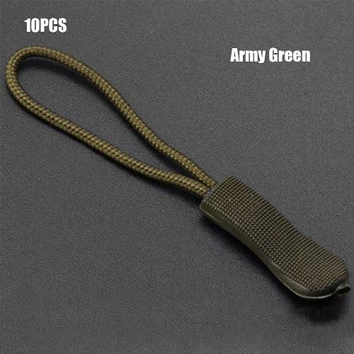 10 шт. фиксатор для застежки-молнии, фиксатор для веревочной бирки, сменный зажим, сломанная Пряжка для шитья одежды, дорожные сумки - Цвет: Army Green