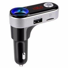 BC09B Bluetooth Kit de Coche Transmisor FM Manos Libres Cargador de Coche MP3 Reproductor de música 5 V/2.1A Cargador Dual USB TF de la Ayuda tarjeta