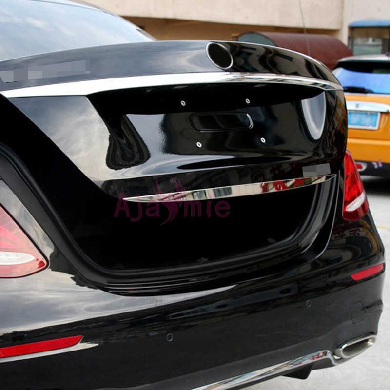 Accesorios aptos para Mercedes Benz 2016 2017 Clase E W213, moldura de vapor para maletero trasero, umbral de puerta de acero inoxidable, estilo cromado para coche
