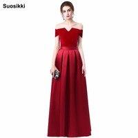 Floor Length Satin Long Evening Dress Gown 2015 Long Design Formal Evening Dresses Gown Wedding Party