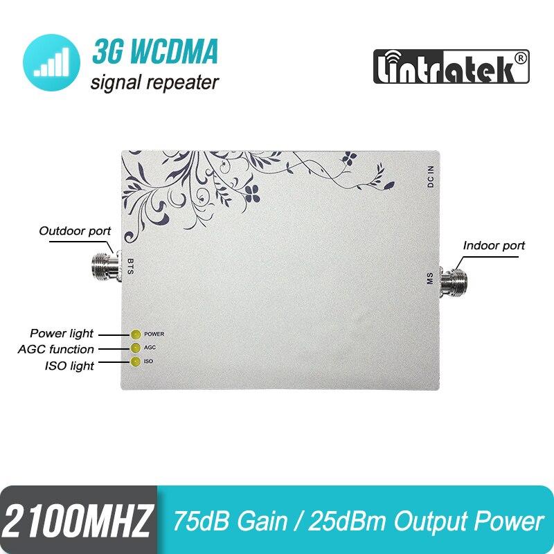Livraison gratuite Lintratek 3G répéteur 1000sqm WCDMA 2100 MHz amplificateur de Signal celulaire UMTS LTE 2100 répétidor ALC MGC amplificateur #6 - 3