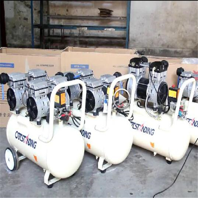 Oil - free Air Compressor High - pressure Gas Pump Spray Woodworking Air compressor small pump 3*1100-100L manka care 110v 220v ac 50l min 165w small electric piston vacuum pump silent pumps oil less oil free compressing pump