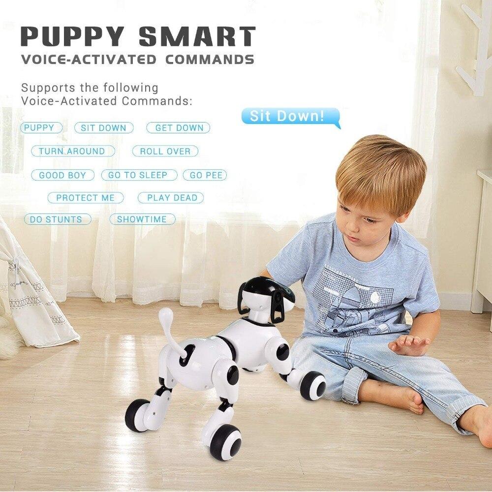 Robot intelligent Chien Intelligence RC Smart Dog Pet Support Voice Activé Commandes Parler Robot Chien Électronique Pet Enfants Jouets