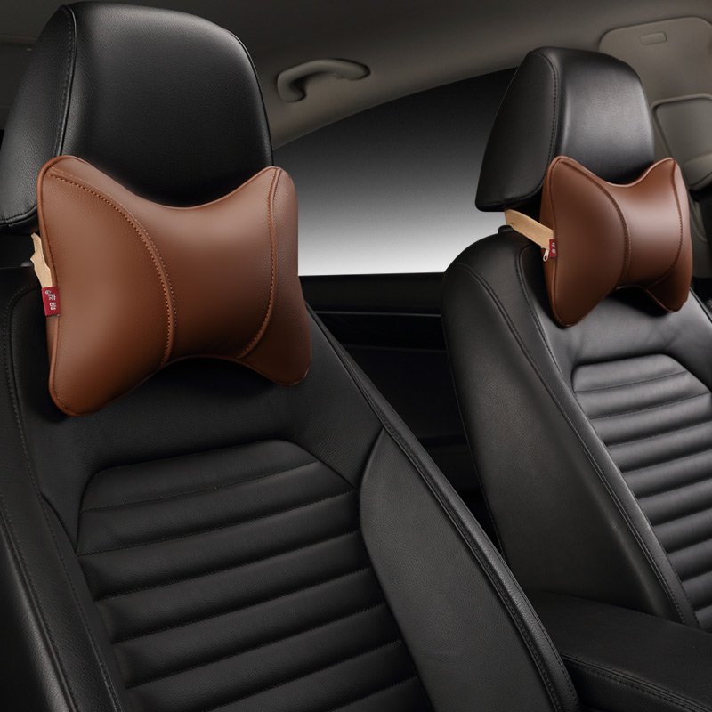 Image 3 - Car Neck Pillow Leather Seat Headrest Car Rest Cushion Car Styling  1Pair Car seat cushion headrest.-in Neck Pillow from Automobiles & Motorcycles